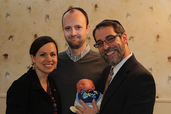 Newborn Baby with Family